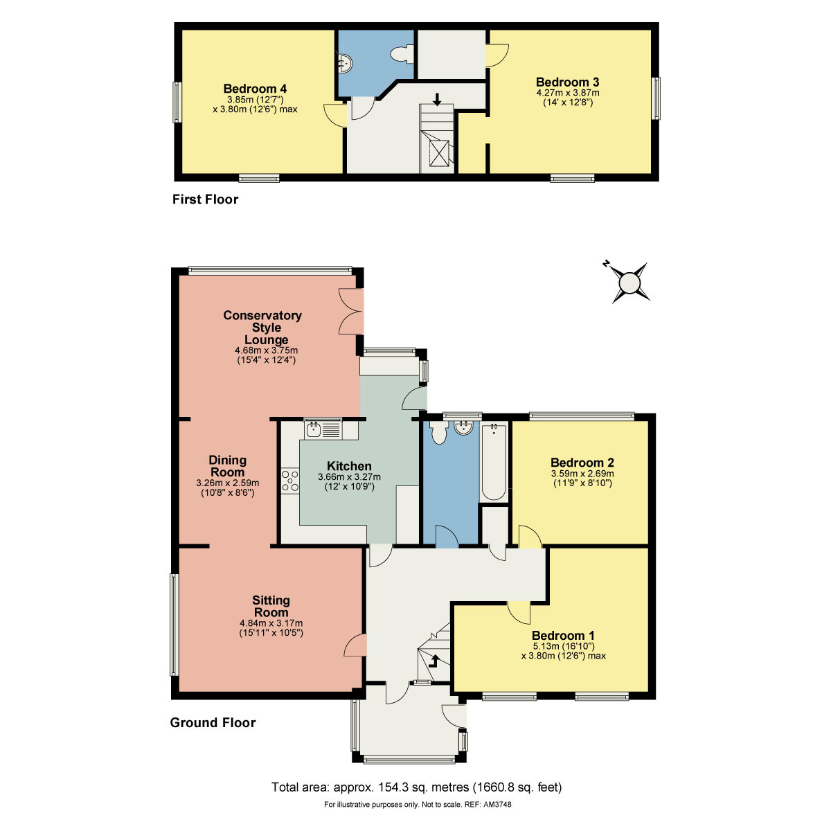 Floorplan 13 Beck Yeat, Coniston, Cumbria LA21 8HT