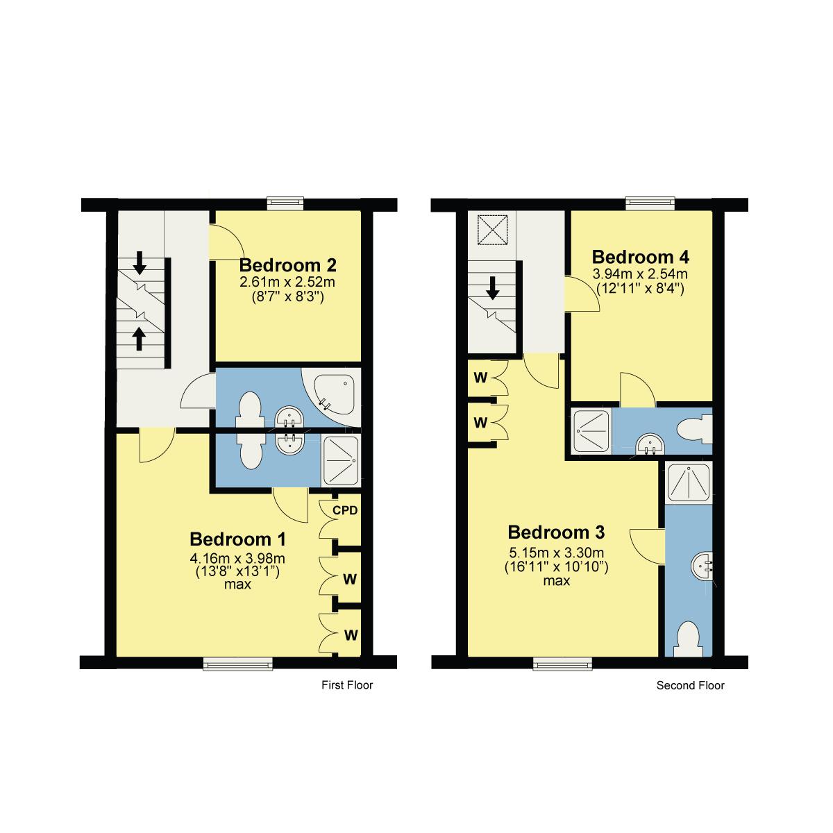 Floorplan 13 Milnthorpe Road, Kendal, Cumbria, LA9 5QQ