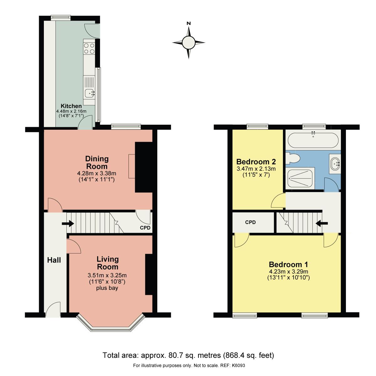 Floorplan 5 Romney Road, Kendal, Cumbria, LA9 5QR