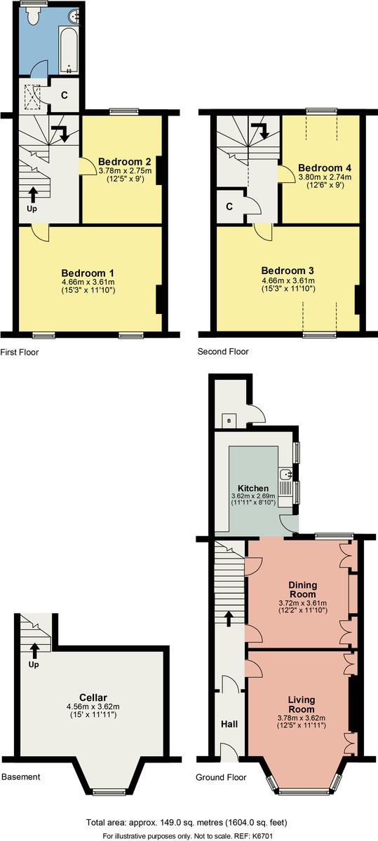 Floorplan 72 Gillinggate, Kendal, Cumbria, LA9 4JB