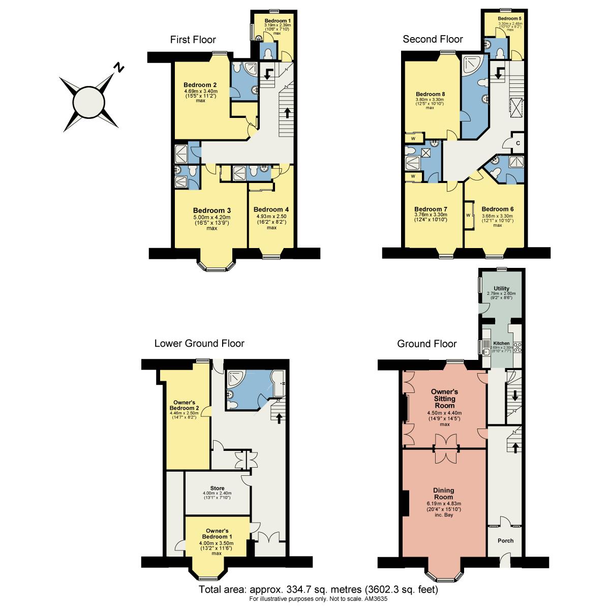 Floorplan Norwood House, Church Street, Ambleside, Cumbria, LA22 0BT