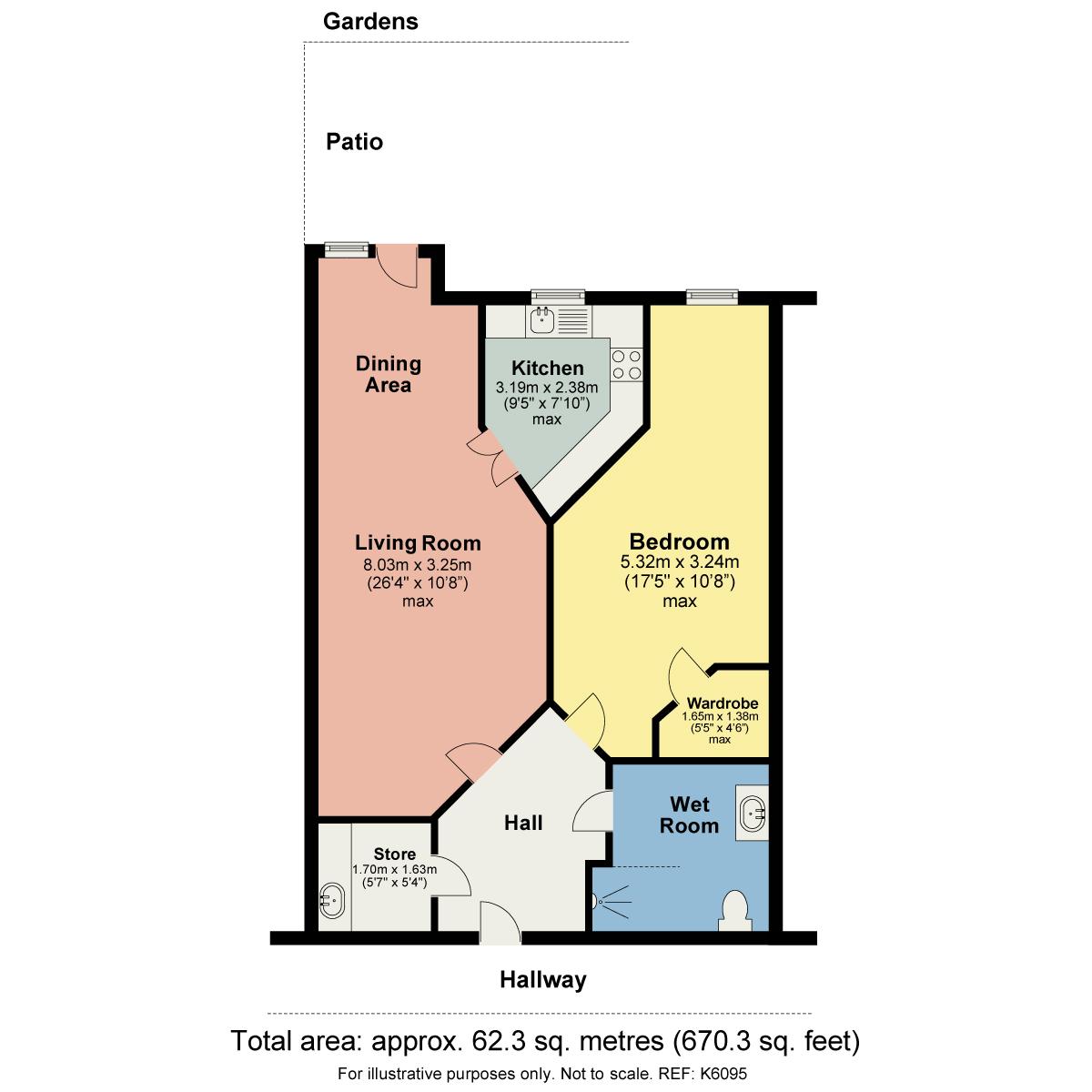 Floorplan 14 Wainwright Court, Webb View,Kendal, Cumbria, LA9 4TE