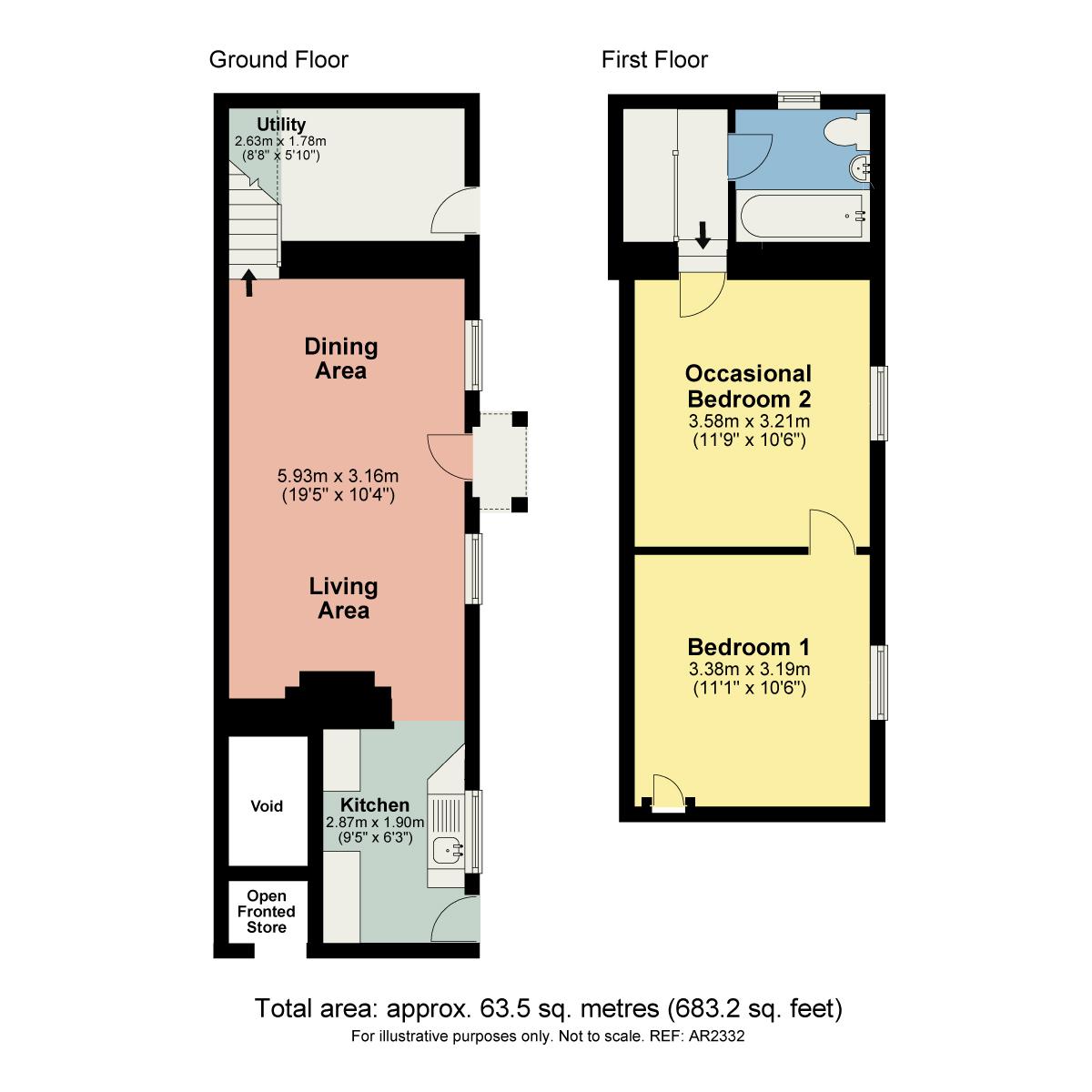 Floorplan Throughs Lane, Storth, Milnthorpe, Cumbria, LA7 7JE