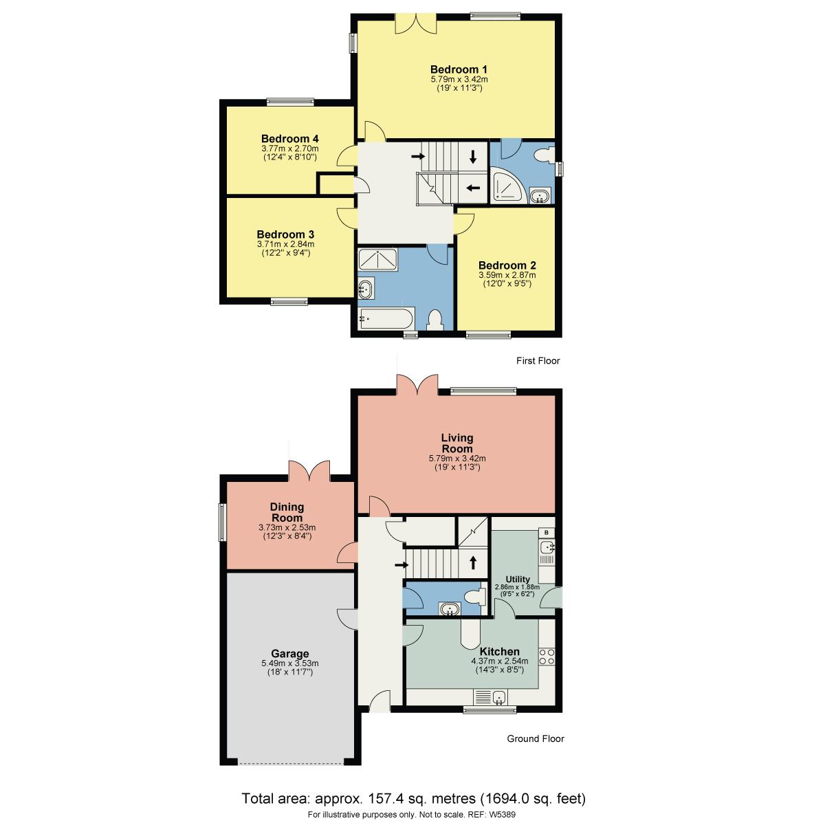 Floorplan 2 Edlan Place, Old Hall Road, Troutbeck Bridge, Windermere, Cumbria, LA23 1QE