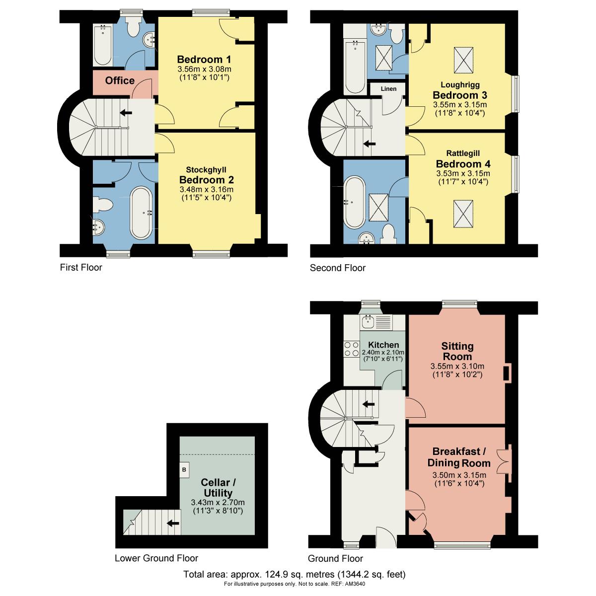 Floorplan The Waterwheel Guesthouse, 3 Bridge Street, Ambleside, Cumbria LA22 9DU