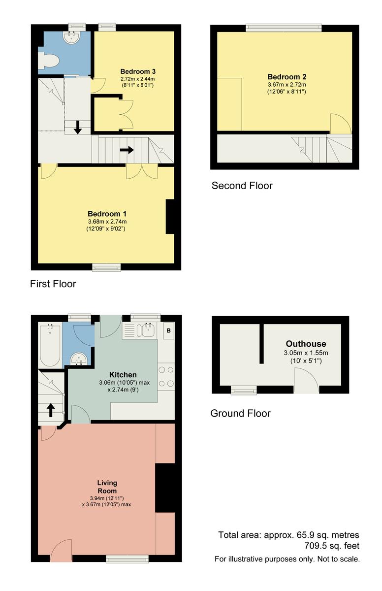 Floorplan Mary Street, Millhead, Carnforth, LA5 9HJ