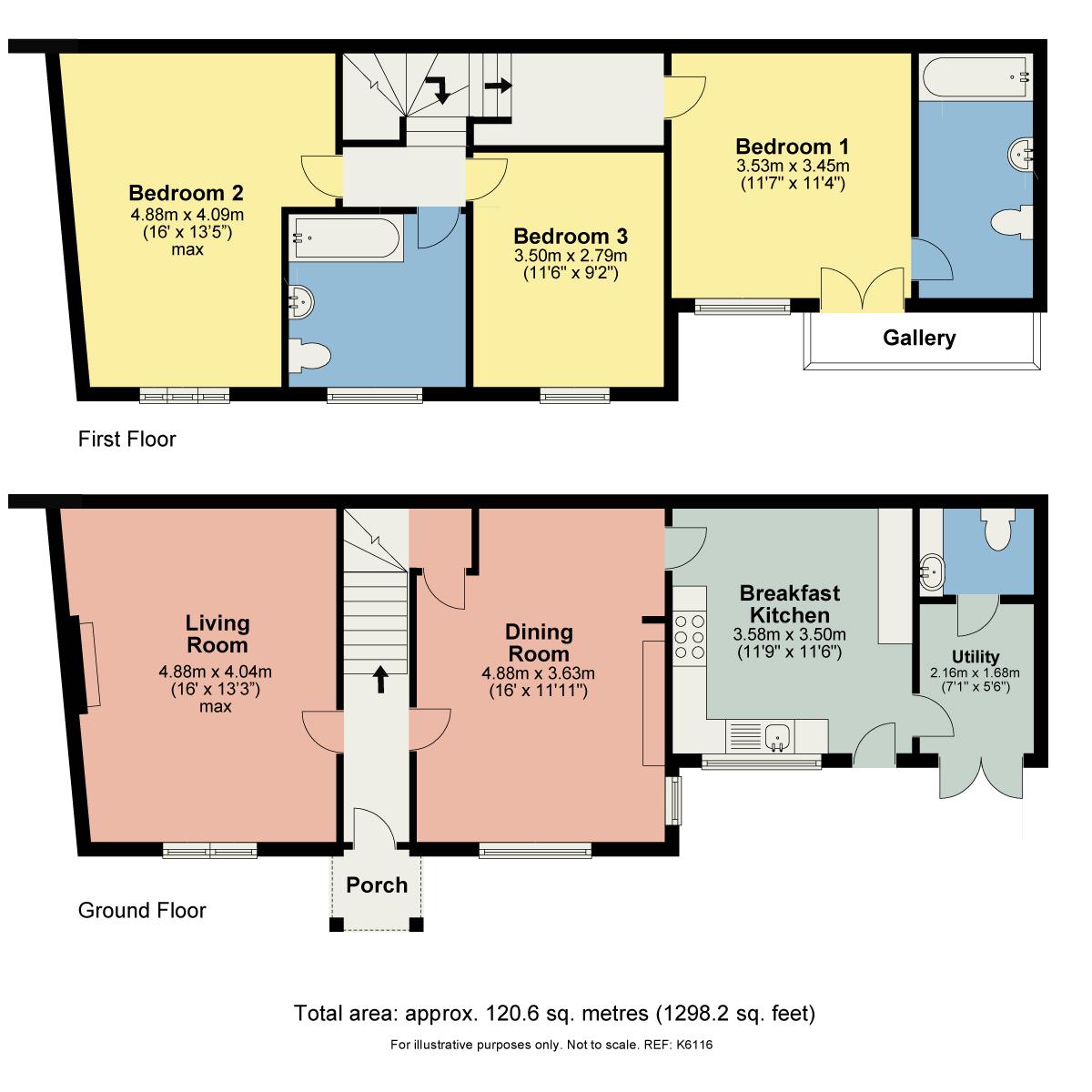 Floorplan Thorn Cottage, Sandes Avenue, Kendal, Cumbria LA9 4LL
