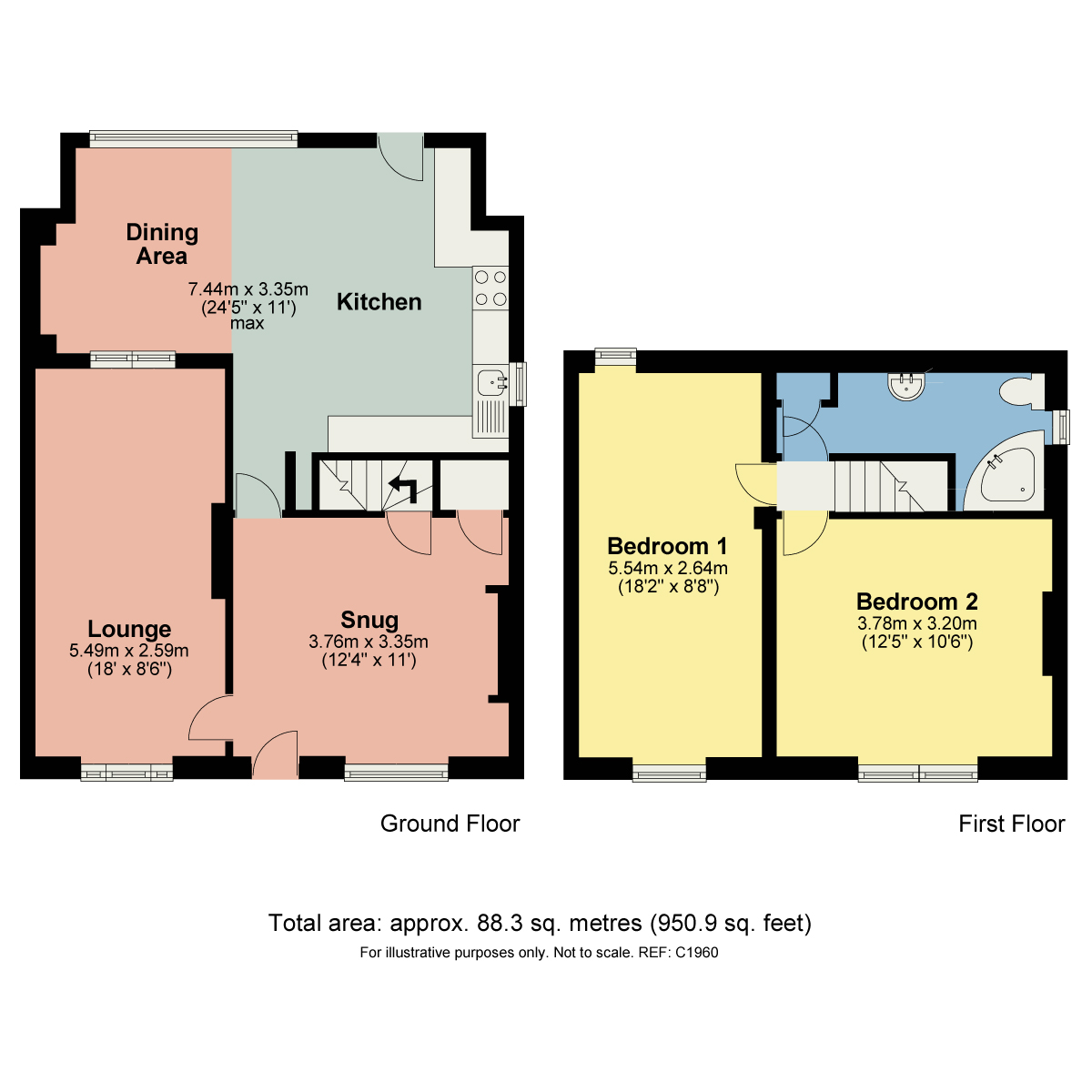 Floorplan North Road, Carnforth, Lancashire, LA5 9LU