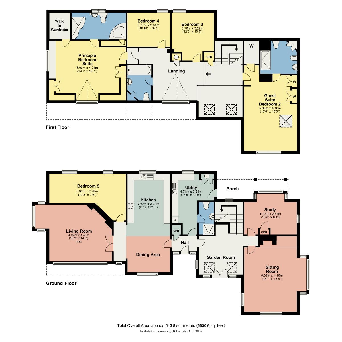Floorplan The Oaks, Crook Road, Kendal, Cumbria LA8 8LX