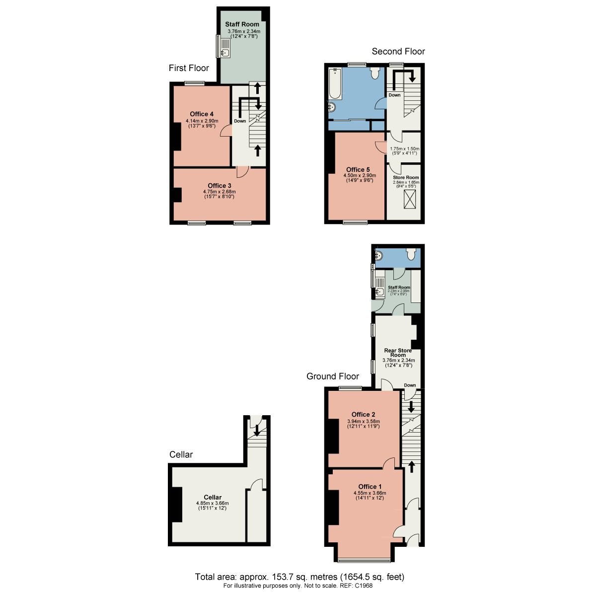 Floorplan New Street, Carnforth, Lancashire, LA5 9BX