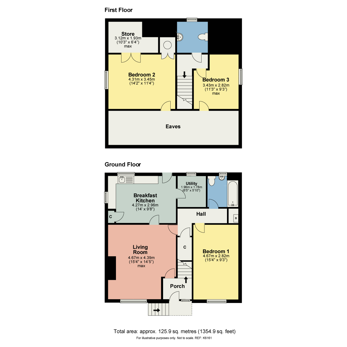 Floorplan Benson View, Sawmill Lane, Kendal, Cumbria, LA9 6JA