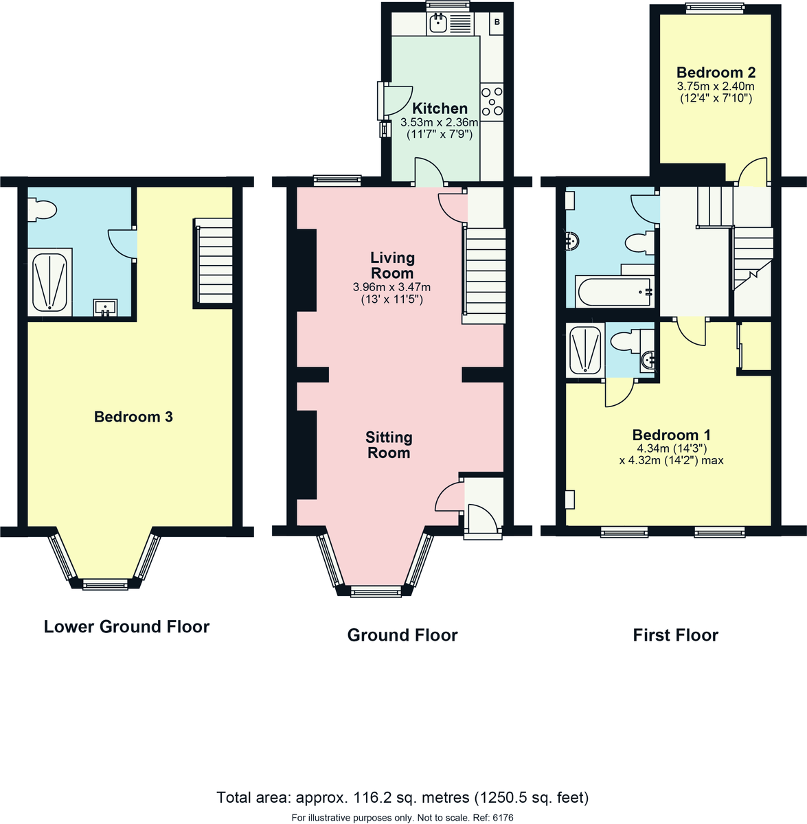 Floorplan 56 Aynam Road, Kendal, Cumbria, LA9 7DW