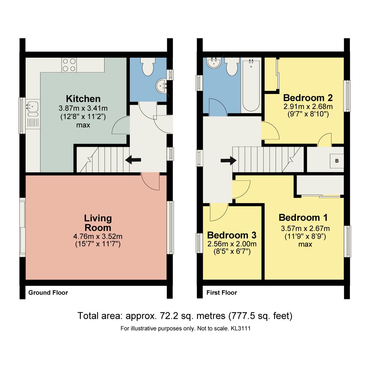 Floorplan Croft Close, Kirkby Lonsdale, Carnforth, LA6 2FH