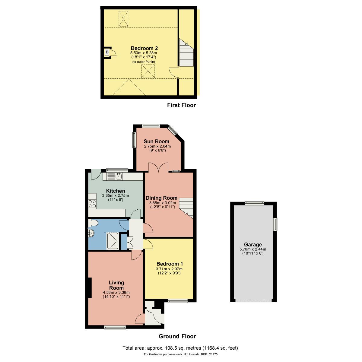 Floorplan Church Hill Avenue, Warton, Carnforth, LA5 9NU