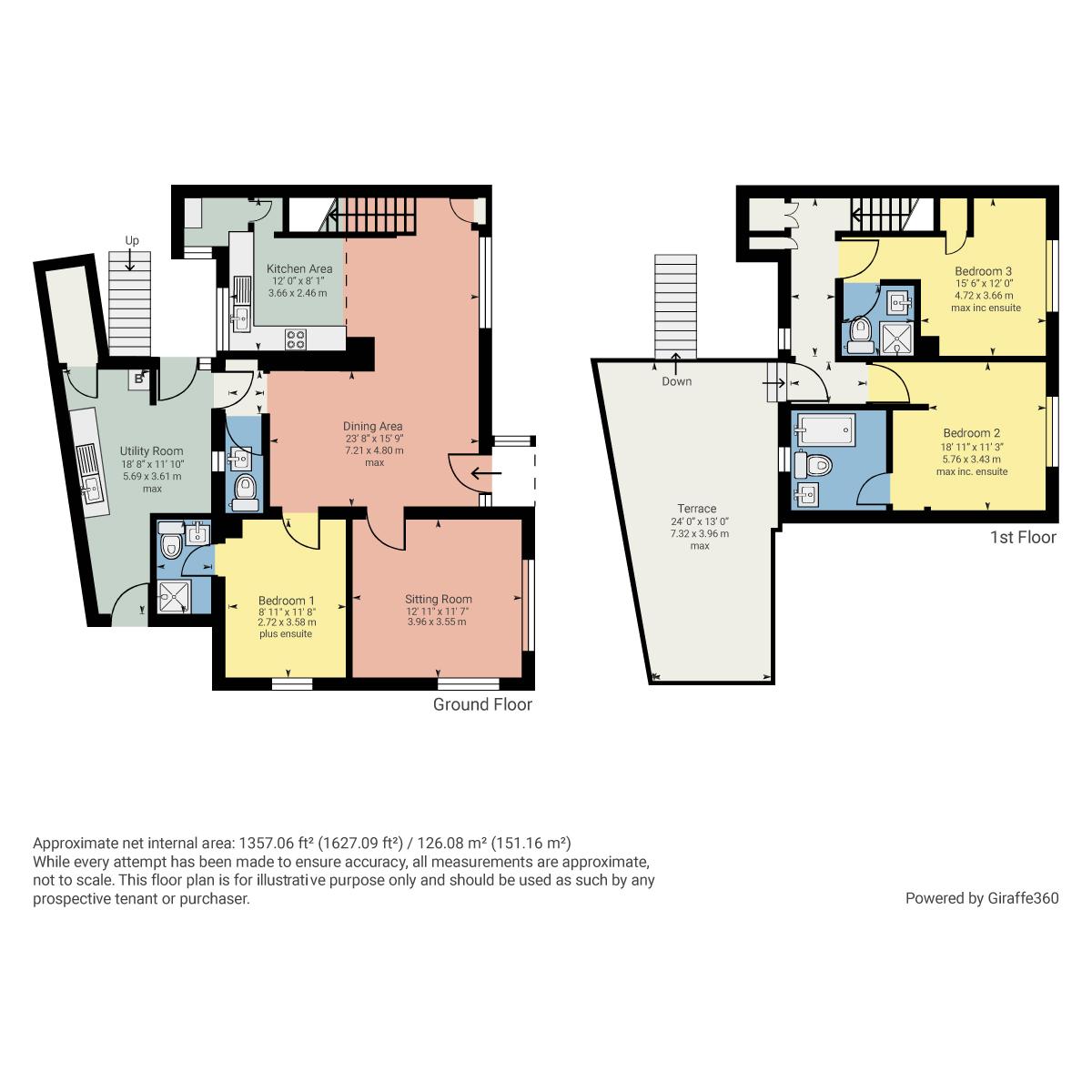 Floorplan Bellman Cottage, Storrs Park, Bowness on Windermere, Cumbria, LA23 3LQ