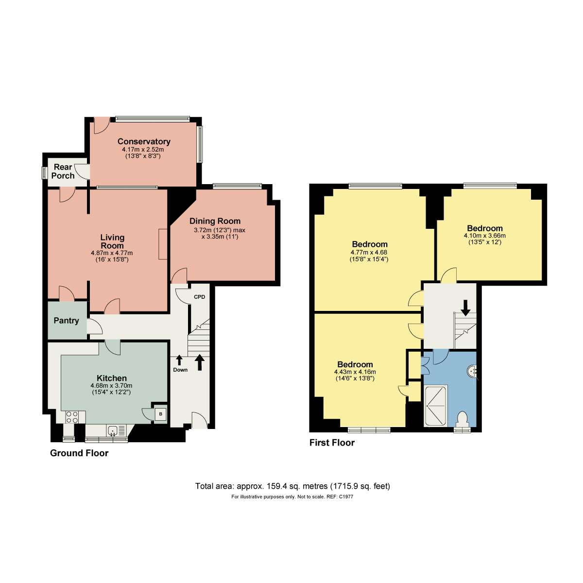 Floorplan Borwick Hall Cottages, Borwick, Carnforth