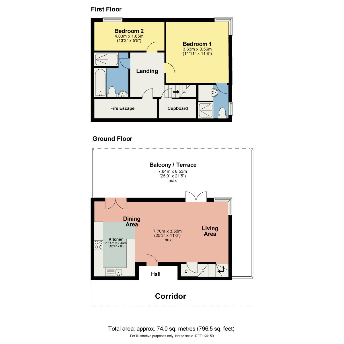 Floorplan 506 Sand Aire House, Kendal, Cumbria LA9 4UA