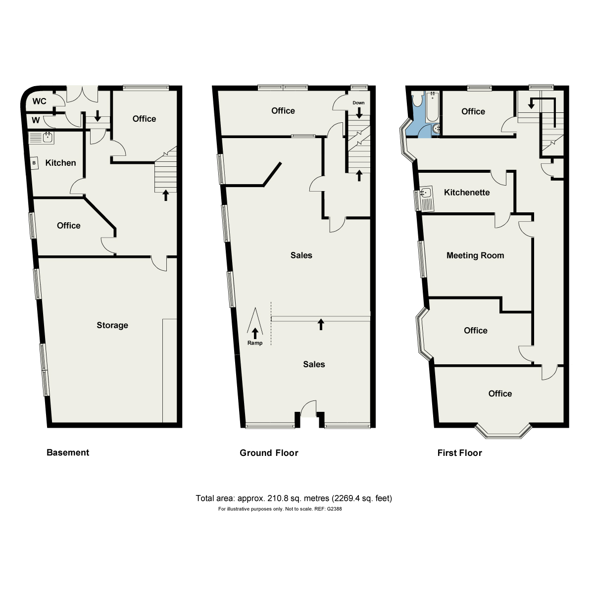 Floorplan Morecambe Bank Building, Main Street, Grange-over-Sands, Cumbria, LA11 6DP