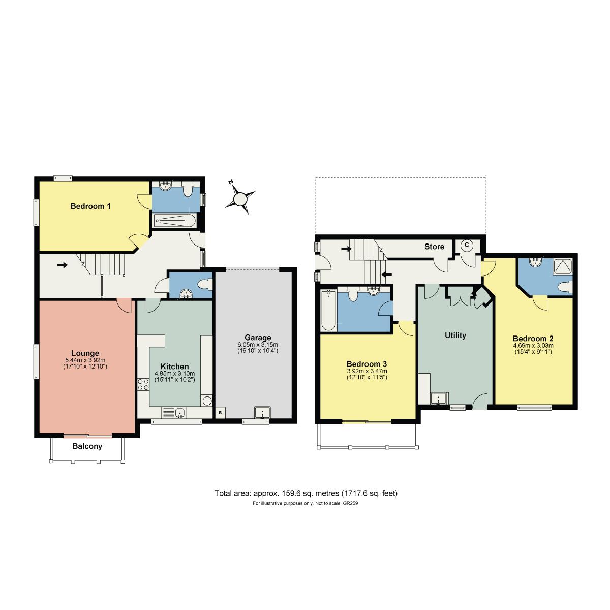 Floorplan Berry Bank House, 15 Oversands View, Grange-Over-Sands, Cumbria, LA11 7BW