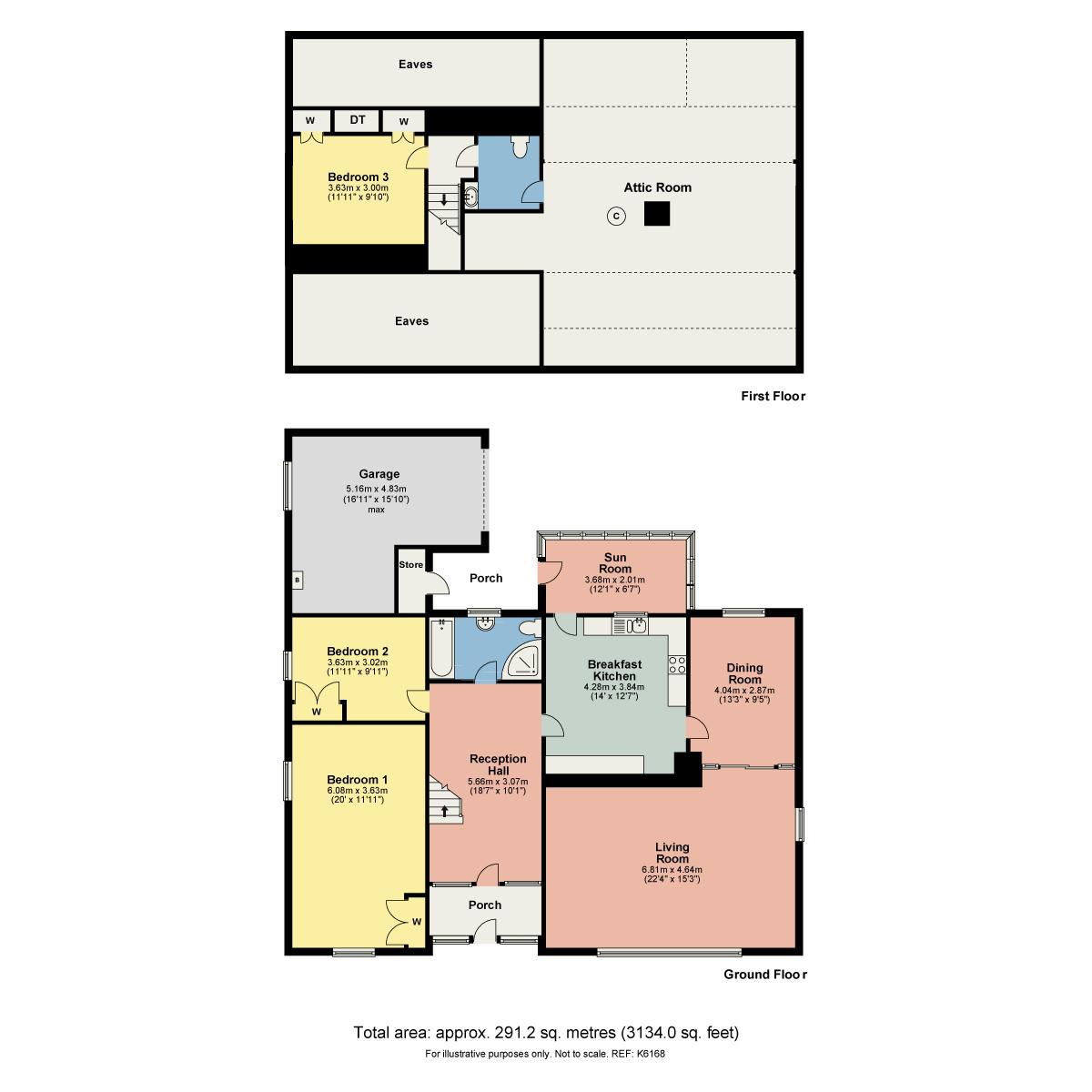 Floorplan 1 Robby Lea Drive, Natland, Kendal, Cumbria, LA9 7QP
