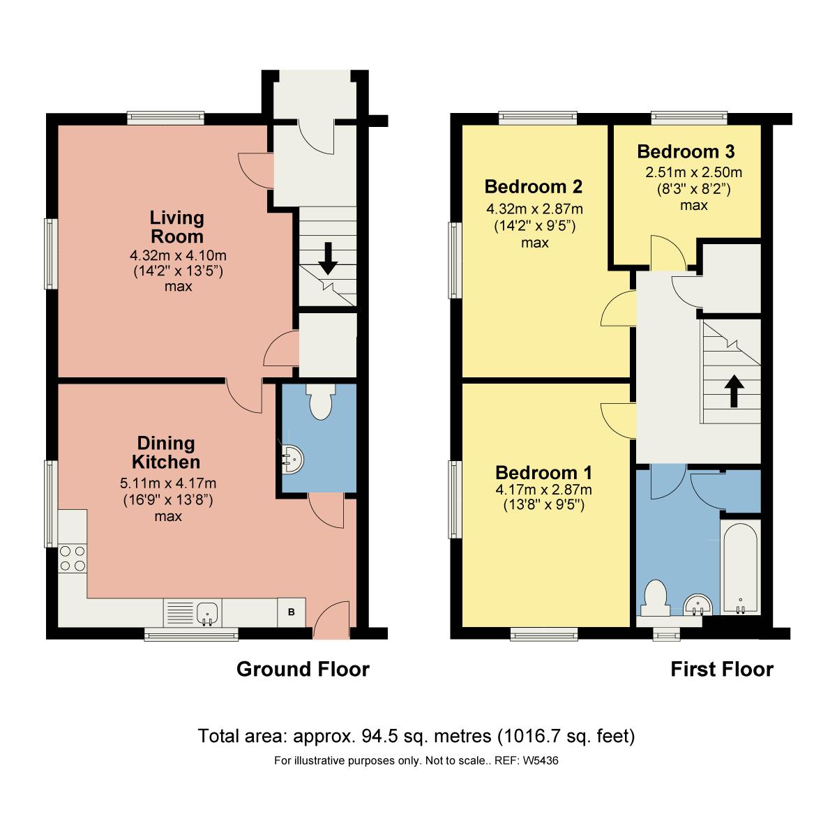 Floorplan 24 Crookfield (Plot 5), Crook Road, Staveley, Kendal, Cumbria, LA8 9QS