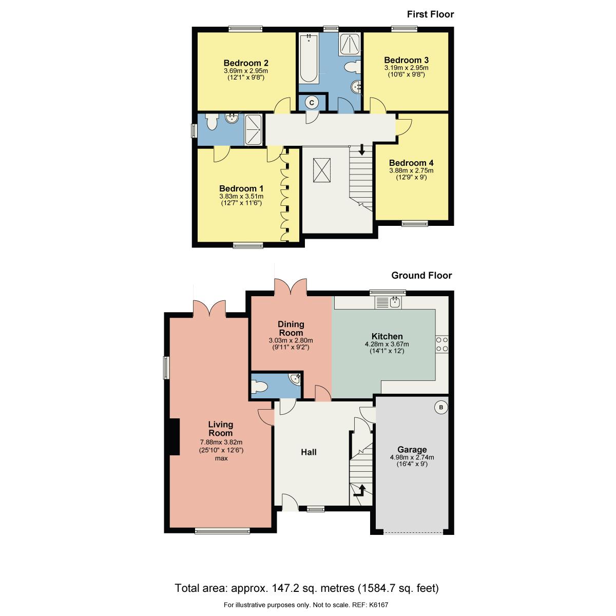 Floorplan 1 Redwood Drive, Kendal, Cumbria, LA9 7FL