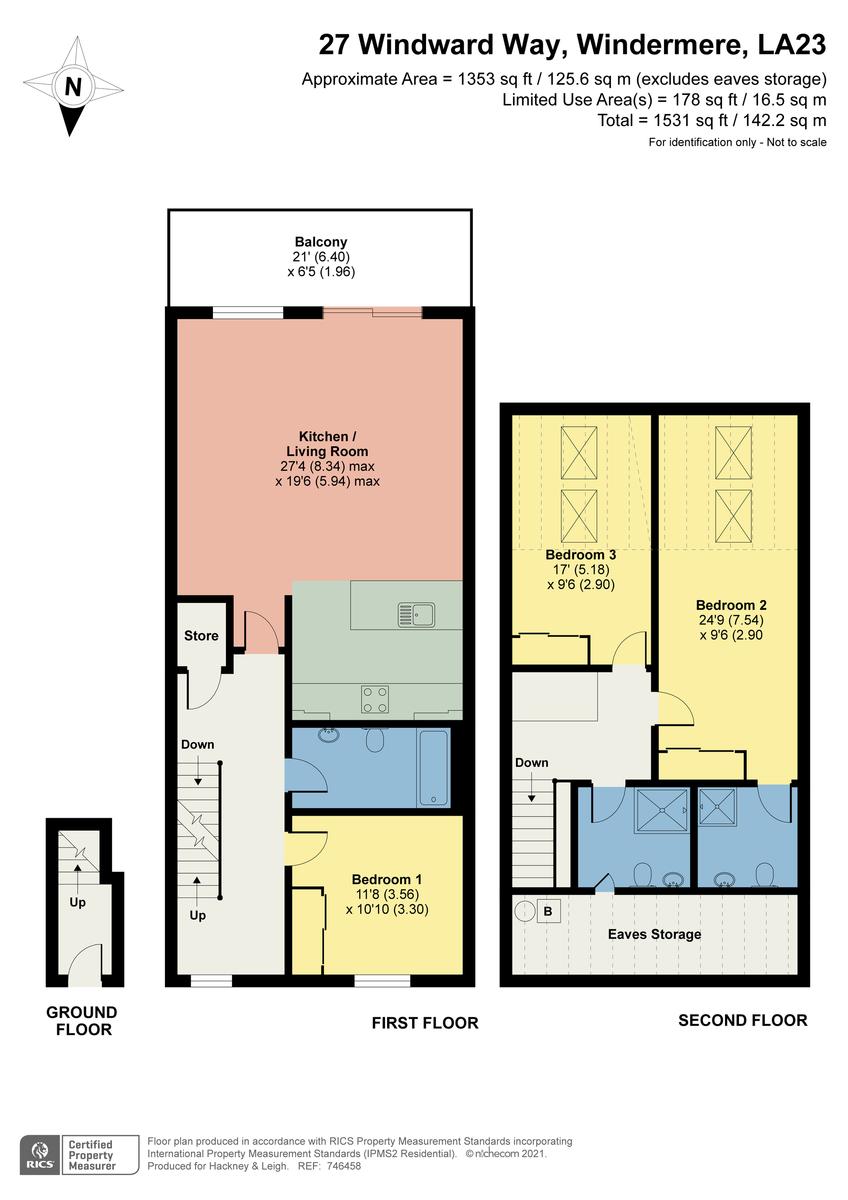 Floorplan 27 Windward Way, Windermere Marina Village, Bowness On Windermere, Cumbria, LA23 3BF