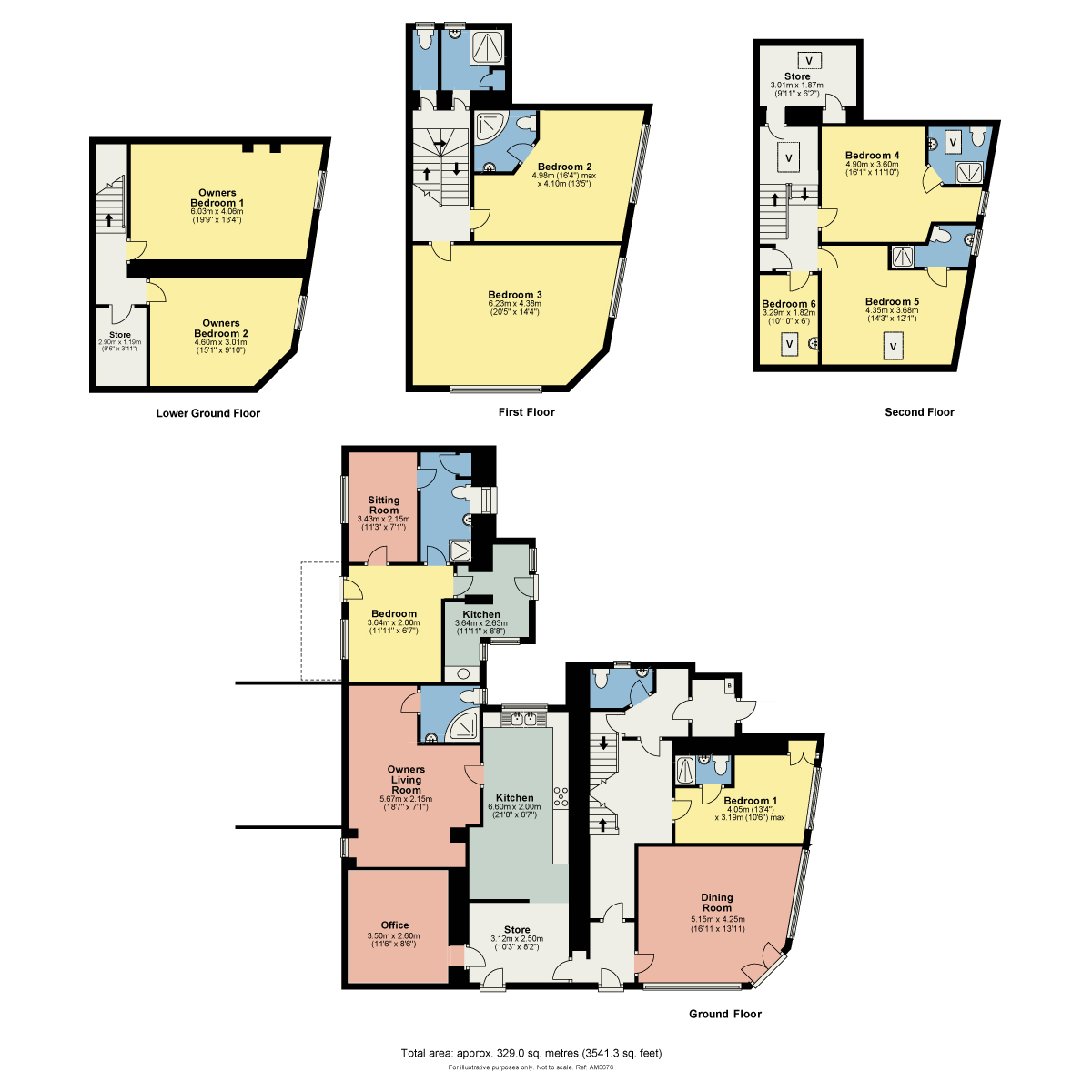 Floorplan Lacet House, Kelsick Road, Ambleside, Cumbria, LA22 0EA