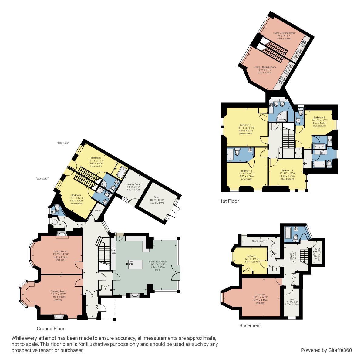 Floorplan Beaumont, Thornbarrow Road, Windermere, Cumbria, LA23 2DG
