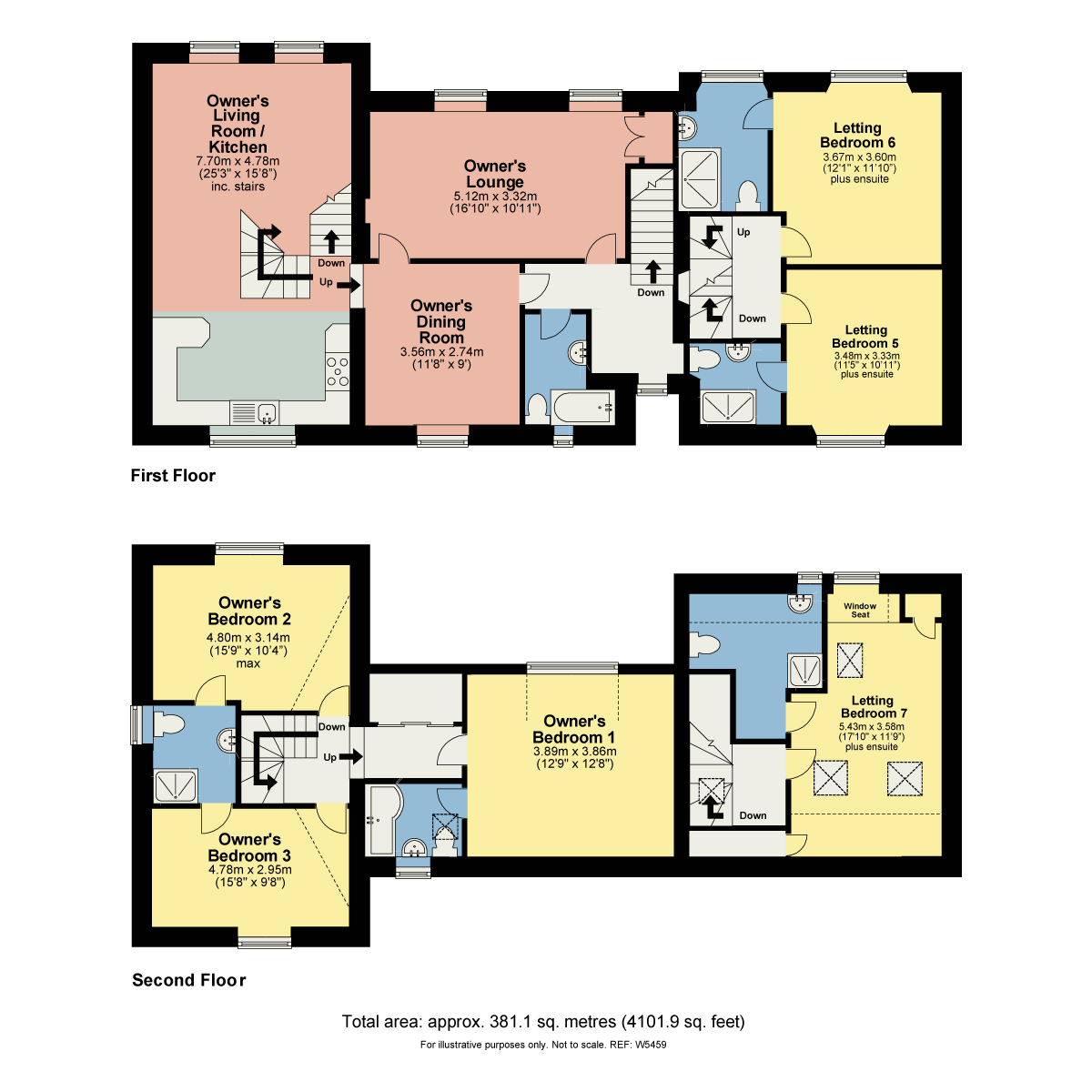 Floorplan Thornbank Guest House, Thornbarrow Road, Windermere, Cumbria, LA23 2EW