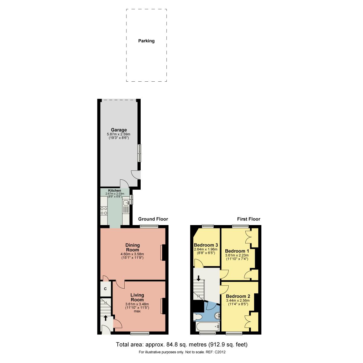 Floorplan Grosvenor Place, Carnforth, Lancashire, LA5 9DL