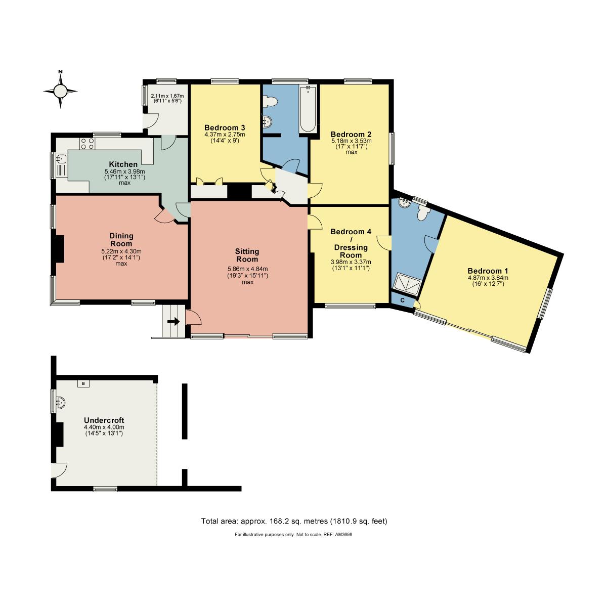 Floorplan The Keld, Hawkshead Hill, Coniston, Cumbria, LA21 8AG