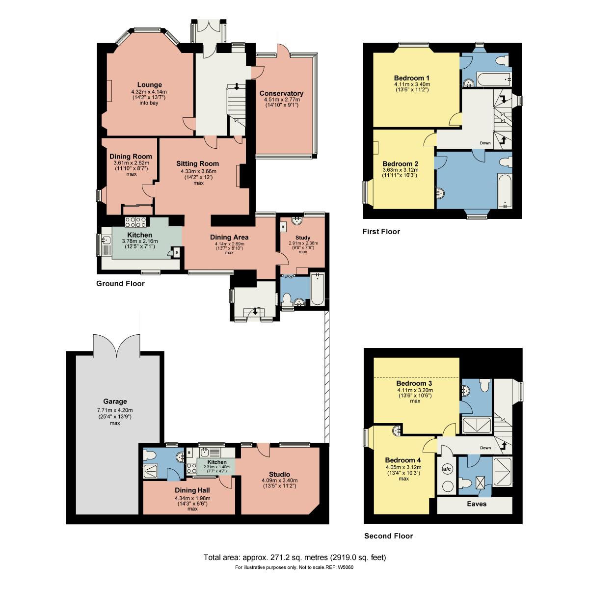 Floorplan Lindisfarne, Sunny Bank Road, Windermere, Cumbria, LA23 2EN