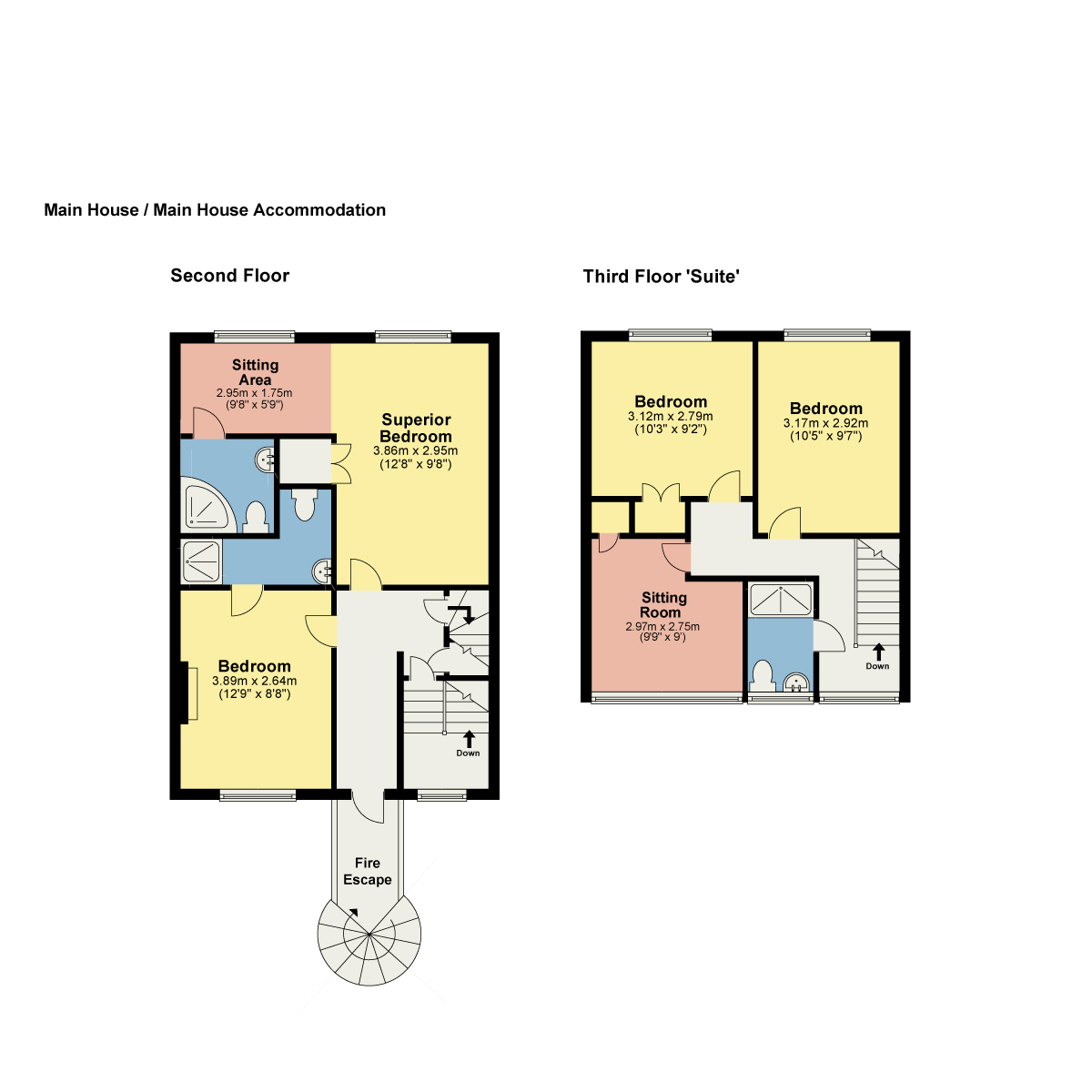 Floorplan Ferndene Guest House, Ambleside Road, Keswick
