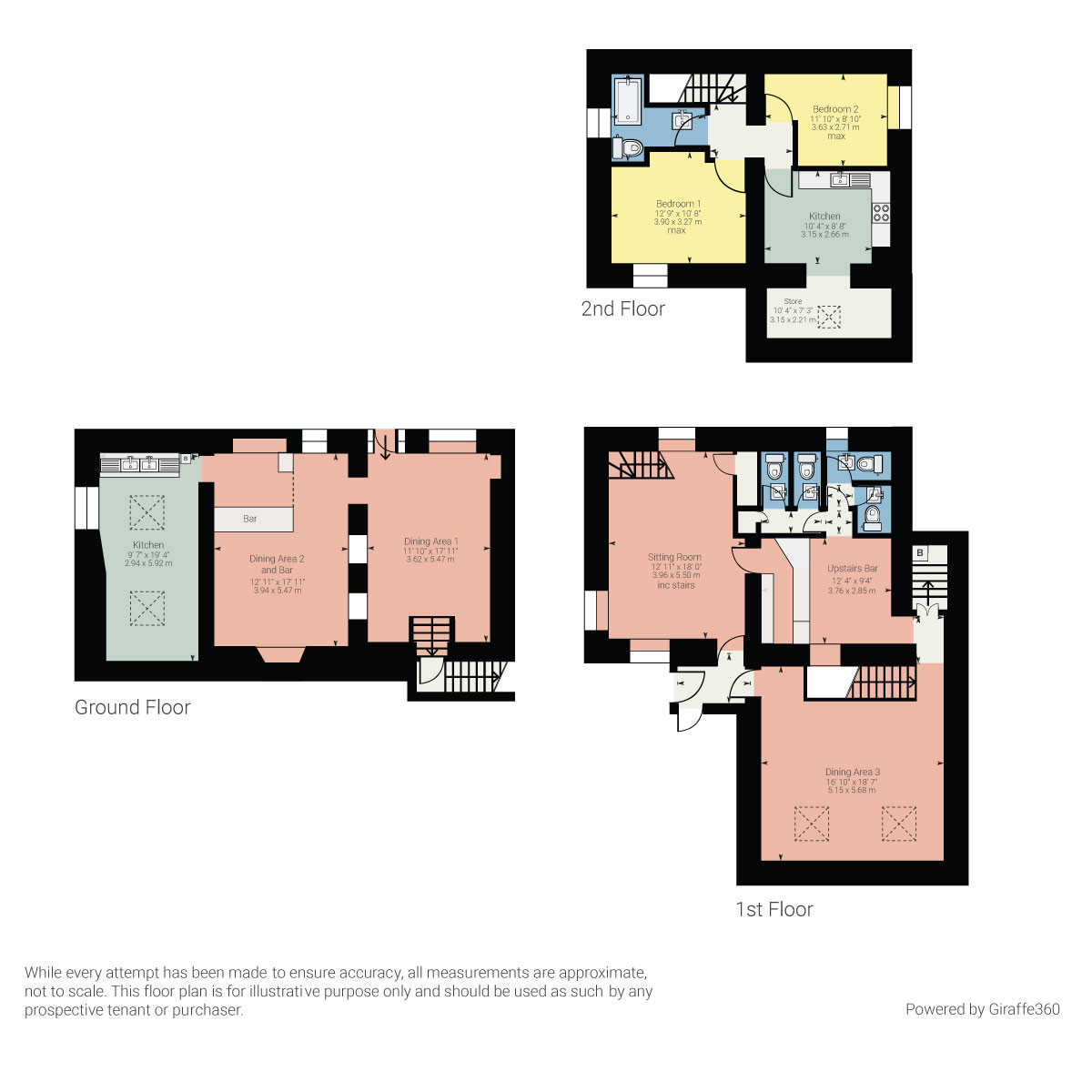Floorplan Villa Positano, Ash Street, Bowness On Windermere, Cumbria, LA23 3EB