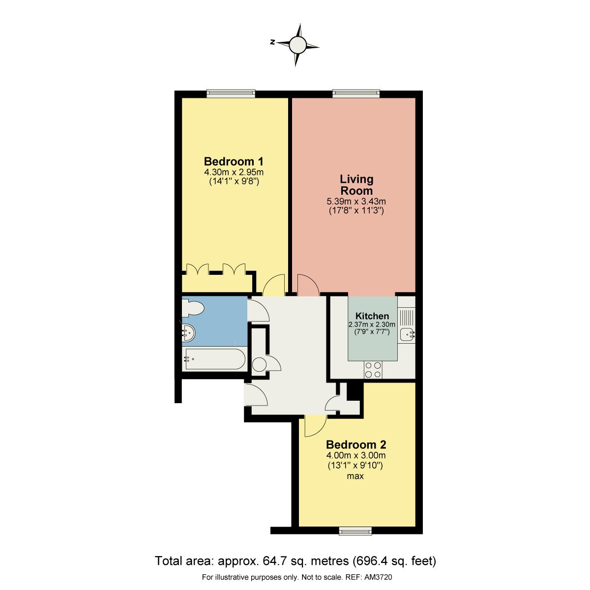 Floorplan 15 Campbell House, Coniston, Cumbria, LA21 8ER