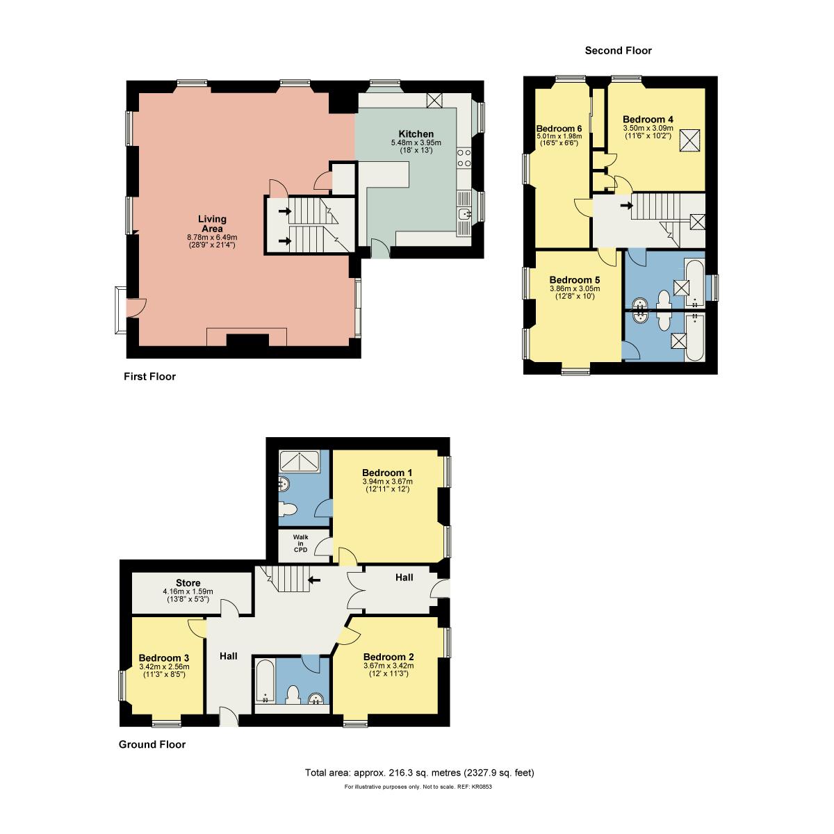 Floorplan Etland House, Preston Patrick
