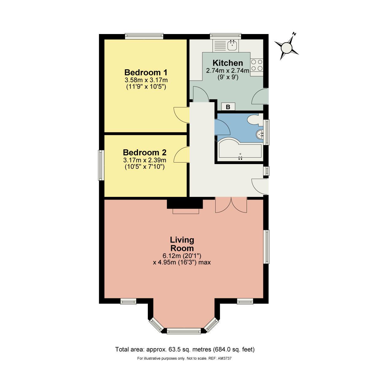 Floorplan 6 Collingwood Close, Coniston, Cumbria, LA21 8DZ
