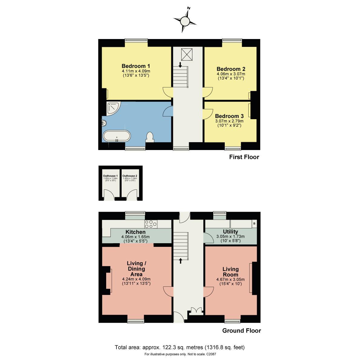 Floorplan Shaw Lane, Nether Kellet, Carnforth, LA6 1HA