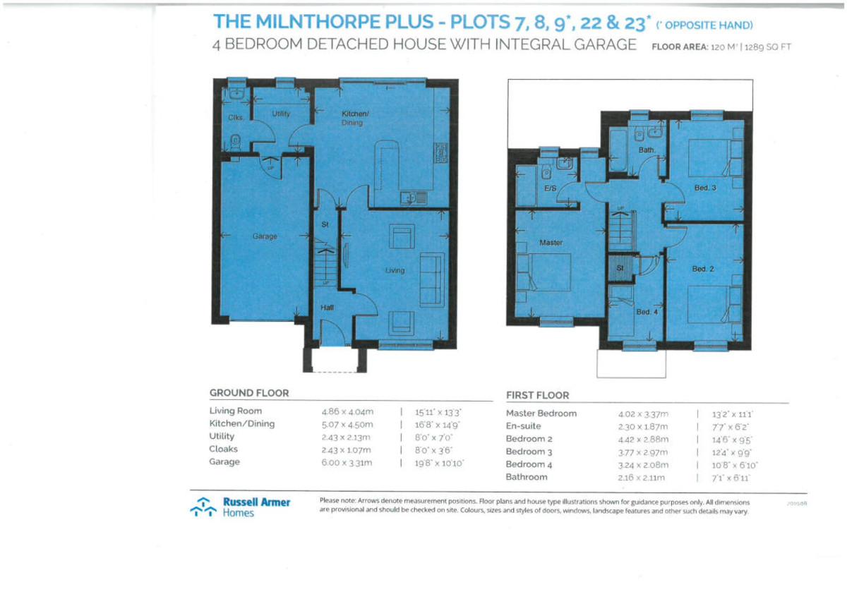Floorplan 9 Winfield Gardens, Allithwaite, Grange-over-Sands, Cumbria, LA11 7QN