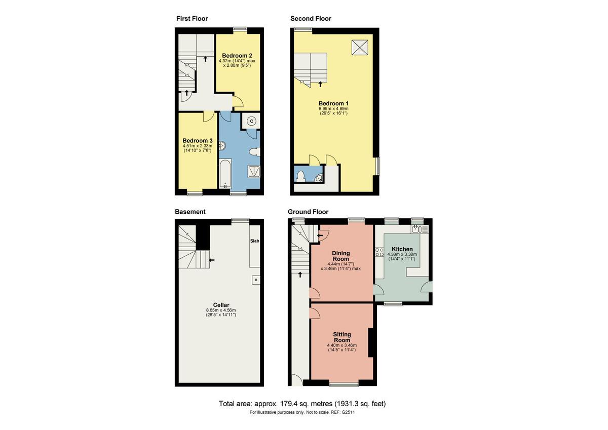 Floorplan Fern Cottage, Newton in Cartmel, Grange over Sands, Cumbria, LA11 6JJ