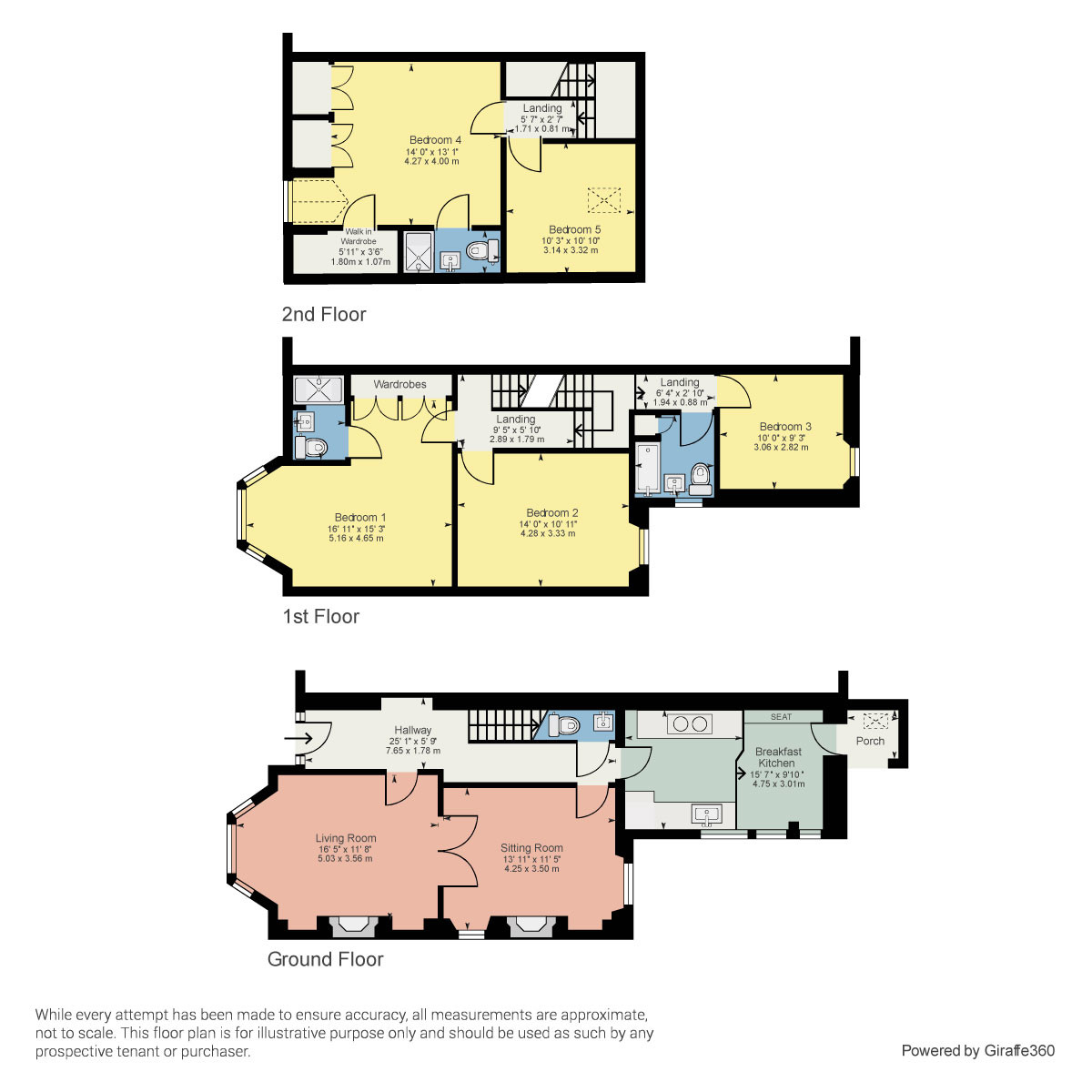 Floorplan 124 Burneside Road, Kendal, Cumbria LA9 4RZ
