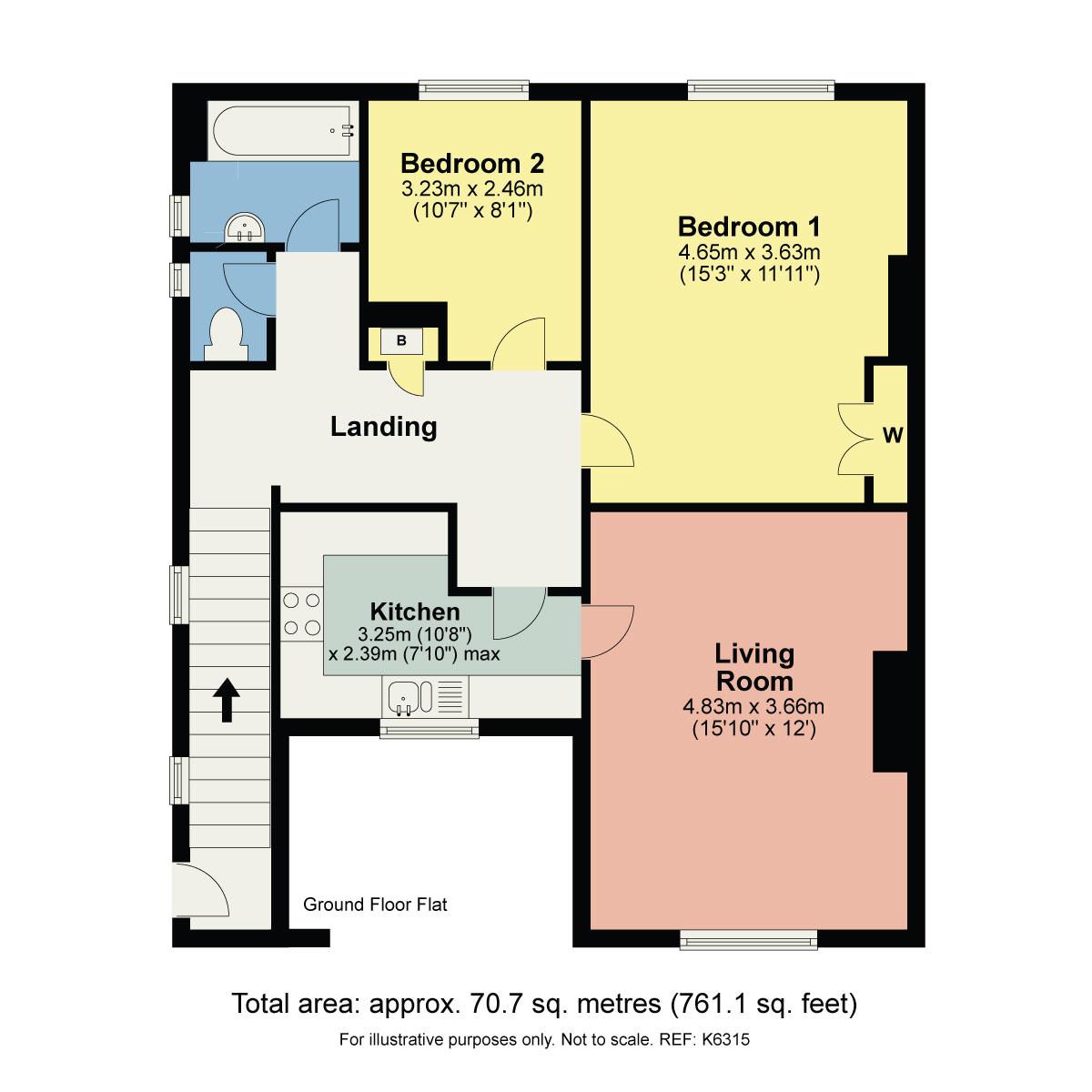 Floorplan 86 Oxenholme Road, Kendal, Cumbria LA9 7HQ