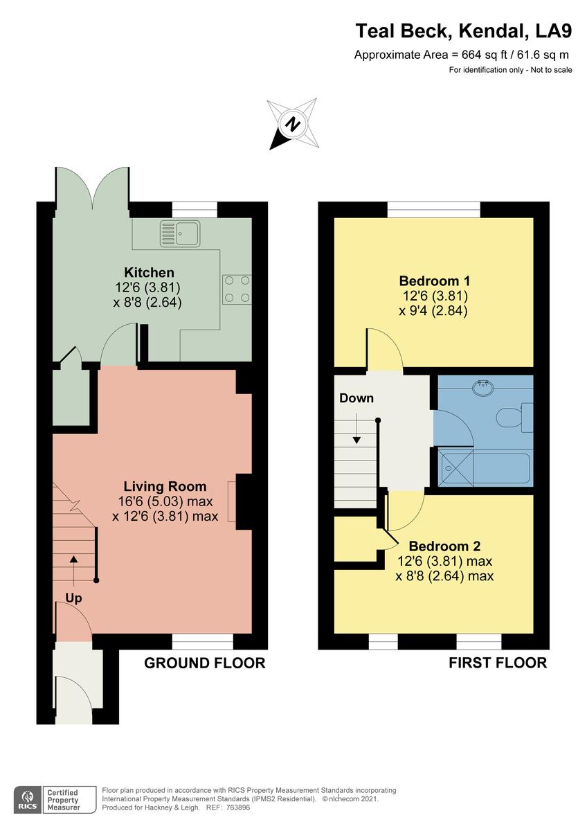 Floorplan 9 Teal Beck, Kendal, Cumbria LA9 7RQ