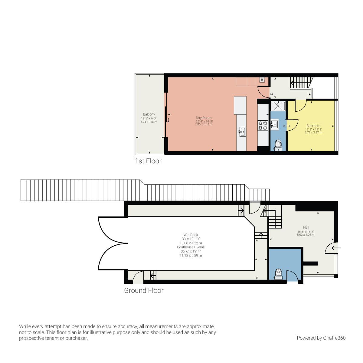 Floorplan Lake View, Storrs Park, Bowness on Windermere, Cumbria, LA23 3LH