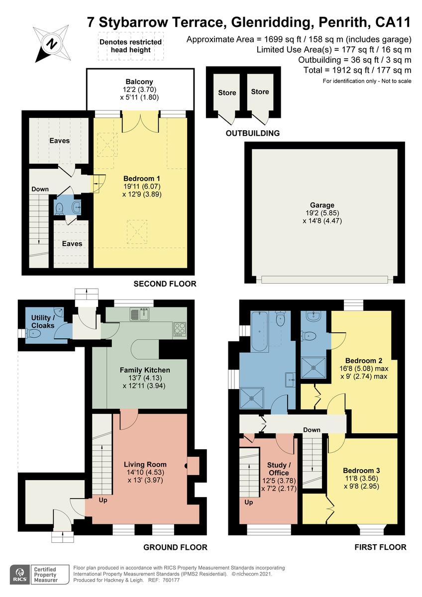 Floorplan 7 Stybarrow Terrace, Glenridding, Penrith, Cumbria CA11 0QD