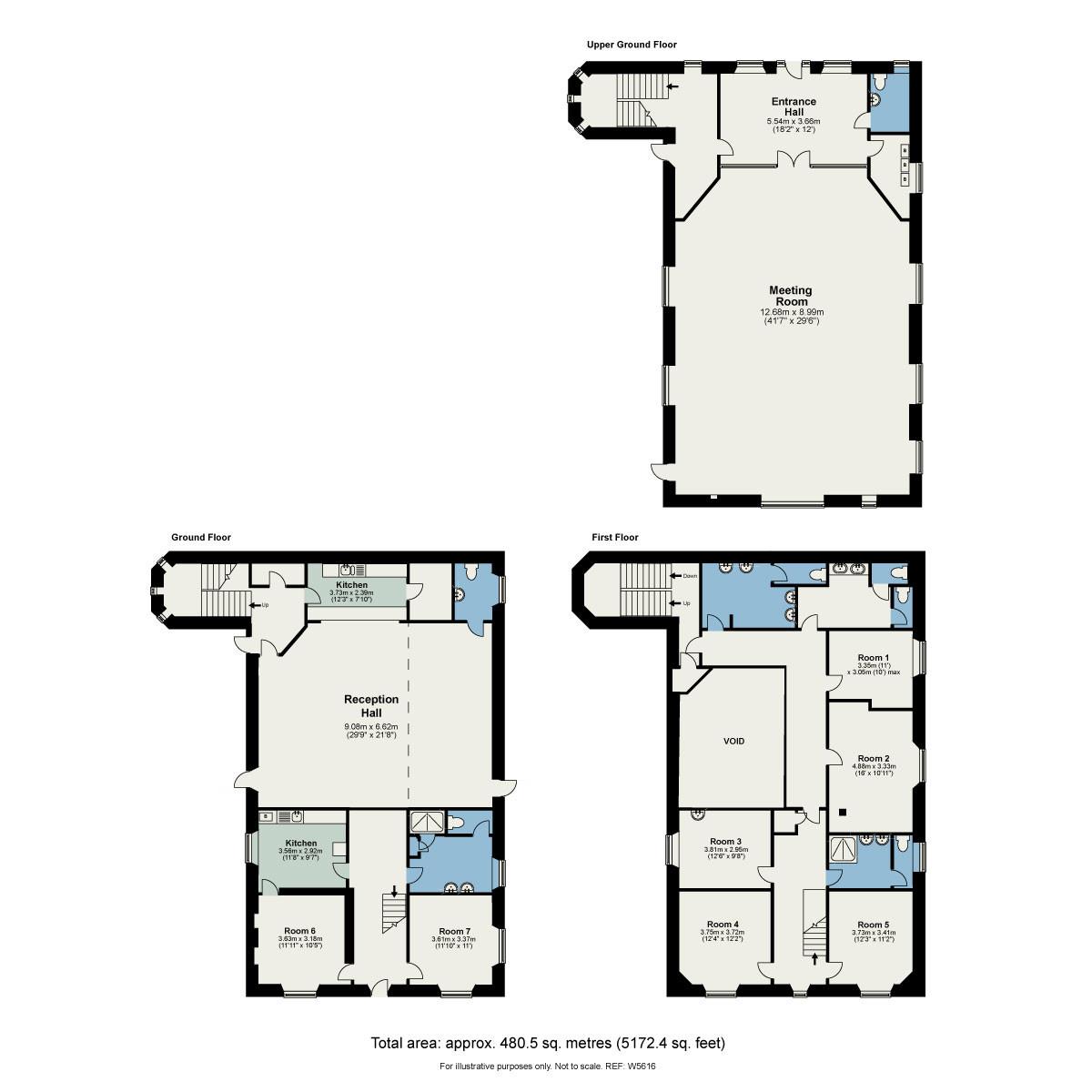 Floorplan The Methodist Church, Lake Road, Bowness on Windermere, Cumbria, LA23 3AP