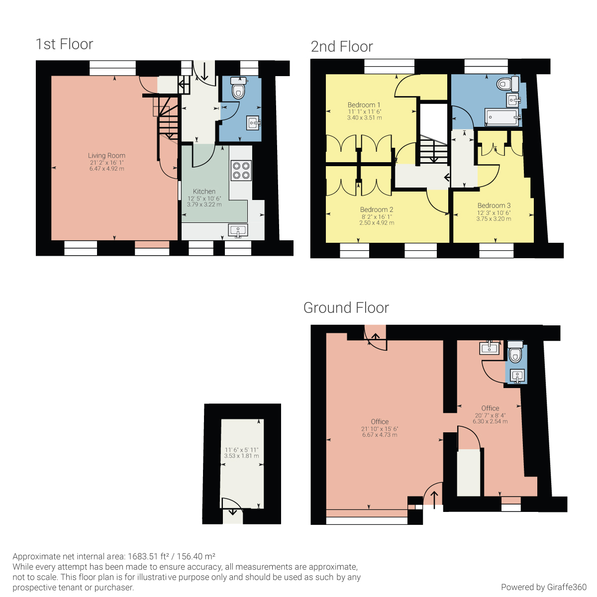 Floorplan 114  – 116 Kirkland, Kendal, Cumbria LA9 5AP
