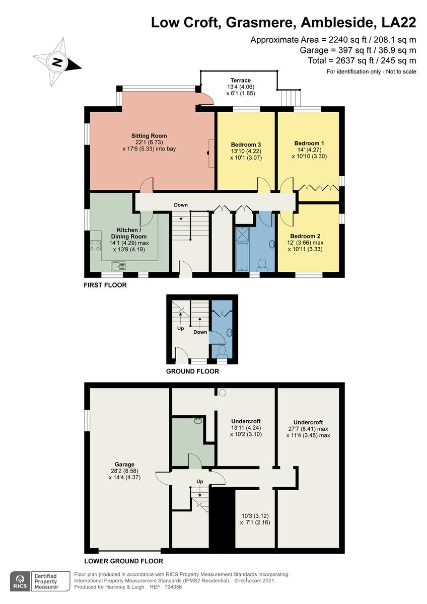 Floorplan Low Croft, Michaels Fold, Grasmere, Cumbria, LA22 9RL