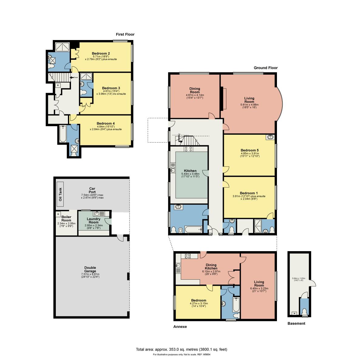 Floorplan Woodlands, Storrs Park, Bowness On Windermere, LA23 3LT